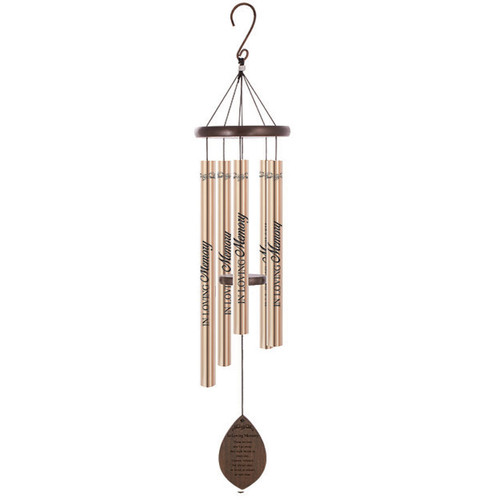 In Loving Memory Wood Comfort Sonnet Memorial Wind Chime