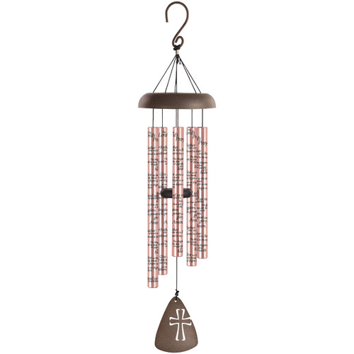 Our Father Wood Comfort Sonnet Memorial Wind Chime