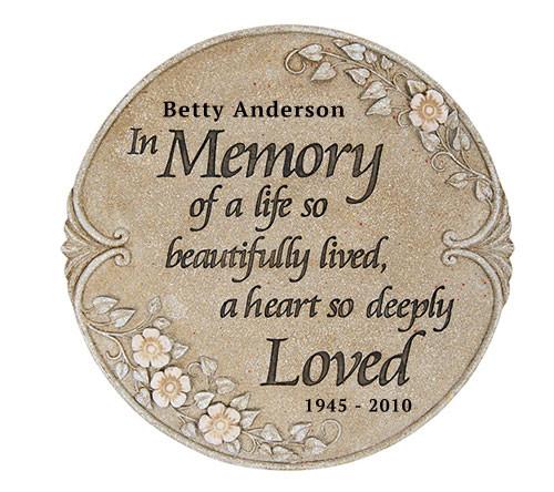 Personalized Beautiful Life Memorial Garden Stepping Stone