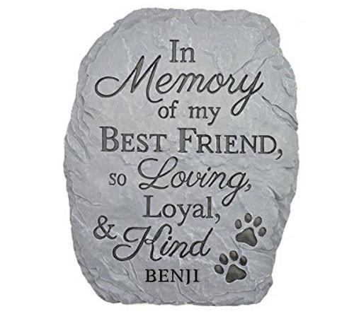 Personalized Best Friend Pet Memorial Stone