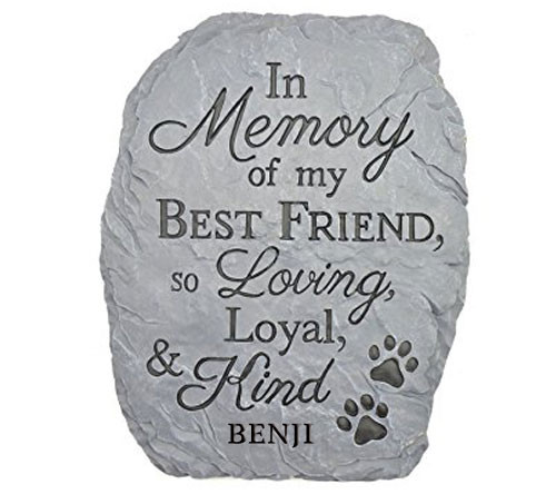 Personalized Best Friend Pet Memorial Stone