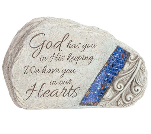 Personalized God's Keeping Glow In The Dark Memorial Stone