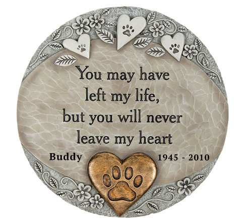 Personalized Left Me Memorial Garden Stepping Stone