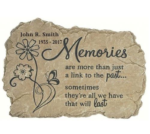 Personalized Memories Memorial Garden Stepping Stone