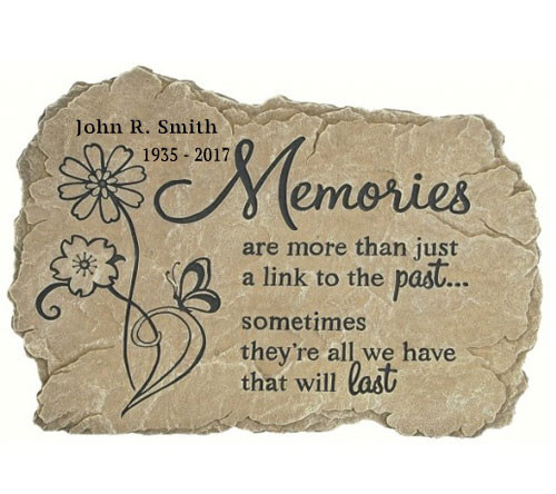 Personalized Memories Memorial Garden Stepping Stone