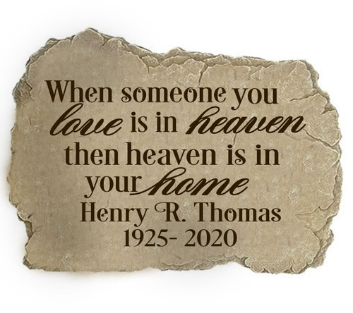 Personalized Someone You Love Memorial Garden Stepping Stone