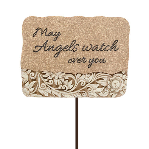 Angels Watch Resin Garden Stake