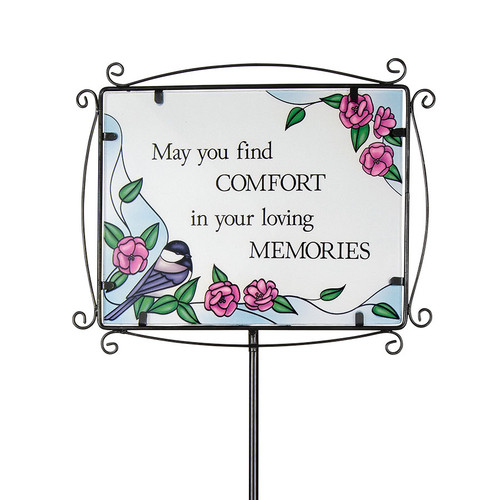 Find Comfort Inspirational Large Glass Garden Stake