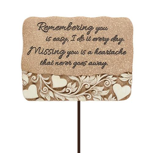 Missing You Resin Garden Stake