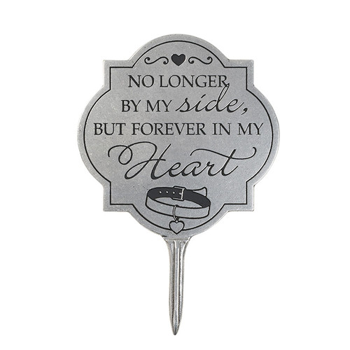 No Longer Pet Inspirational Metal Garden Oval Stake