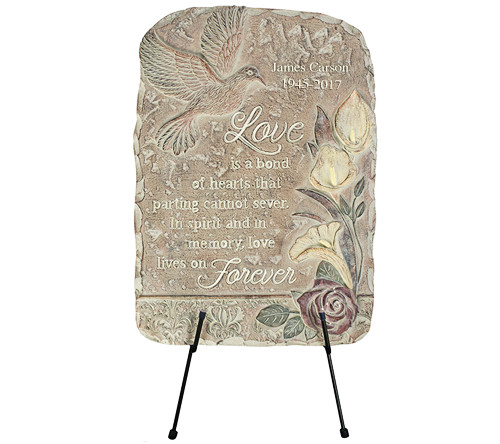 Personalized Love Bonds Memorial Garden Plaque