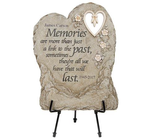 Personalized More Memories Memorial Garden Plaque