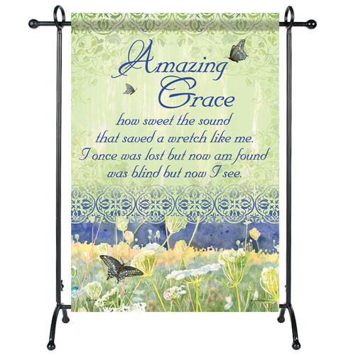 Amazing Grace Garden or Cemetery Flag