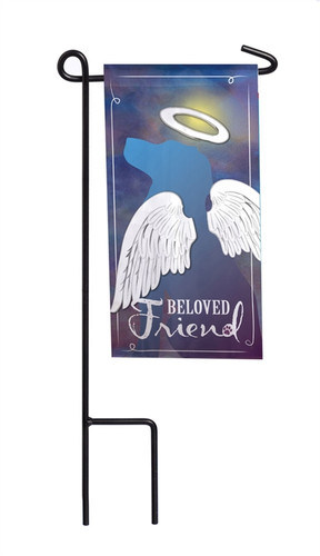 Beloved Friend Mini Memorial Flag With Stand