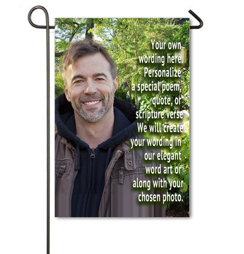Custom Personalized In Loving Memory Memorial Garden Flag