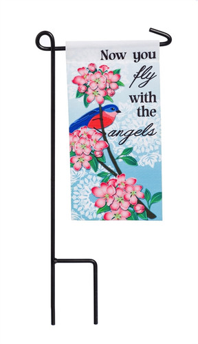 Fly With Angels Mini Memorial Flag With Stand