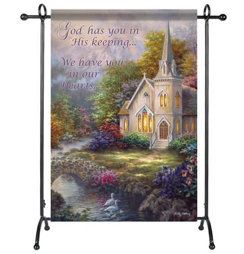 God's Keeping Garden or Cemetery Flag