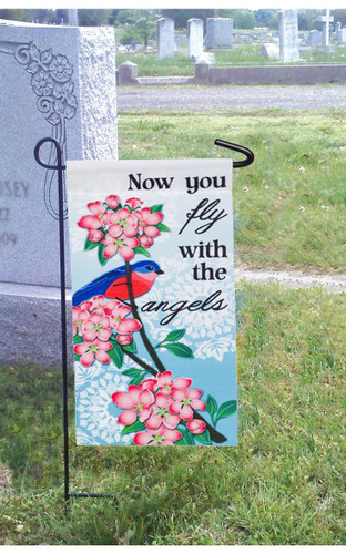 In Loving Memories Appliqué Memorial Garden Flag
