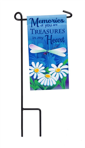 Memories of You Mini Memorial Flag With Stand