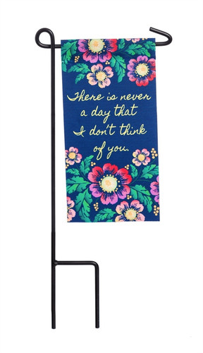 Never A Moment Mini Memorial Flag With Stand