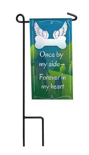 Once By Side Mini Memorial Flag With Stand (