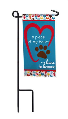 Piece of My Heart Mini Memorial Flag With Stand