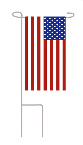 U.S. Patriotic Mini Memorial Flag With Stand