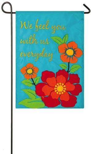 With Us Everyday Appliqué Memorial Garden Flag