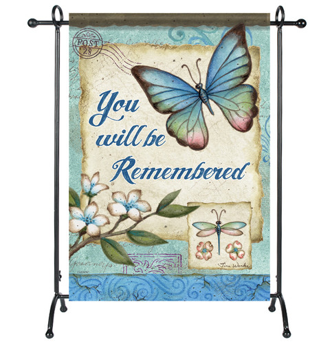 You Will Be Remembered Garden or Cemetery Flag
