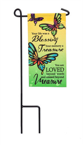 Your Life A Blessing Mini Memorial Flag With Stand