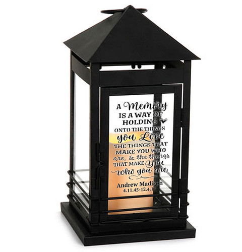 A Memory Memorial Lantern With LED Candle