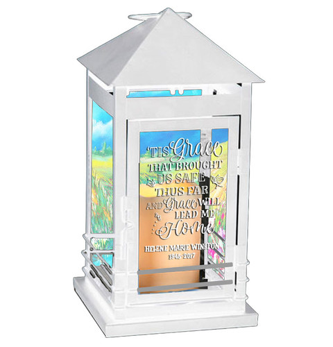 Amazing Grace Memorial Lantern With LED Candle