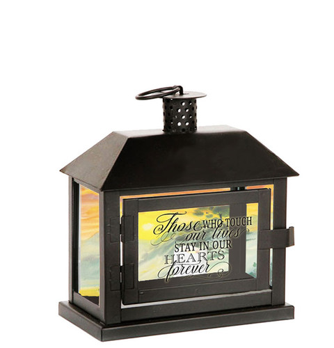 Hearts Forever Memorial Lantern With LED Votive Candle