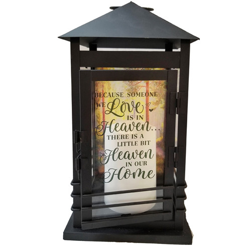 Heaven Memorial Lantern With LED Candle
