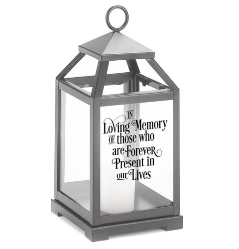 In Loving Memory Memorial Lantern With LED Candle