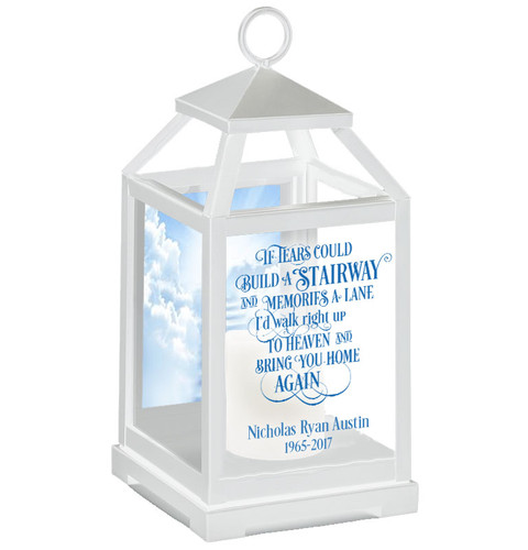 Stairway To Heaven Memorial Lantern With LED Candle