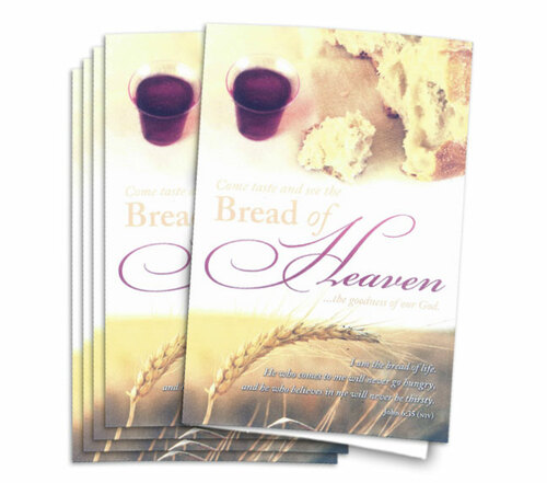 Bread of Heaven Funeral Program Paper