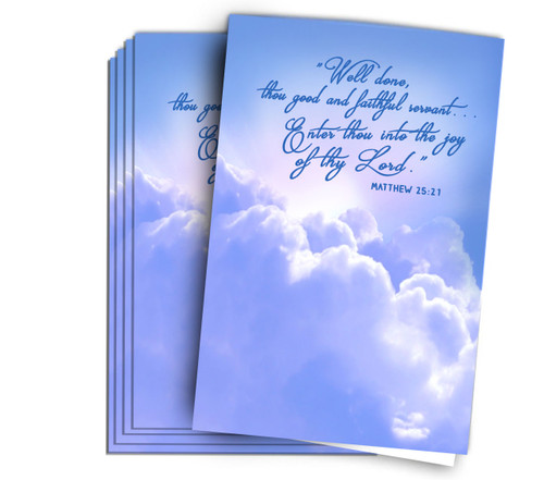Enter Into Joy Funeral Memorial Program Paper
