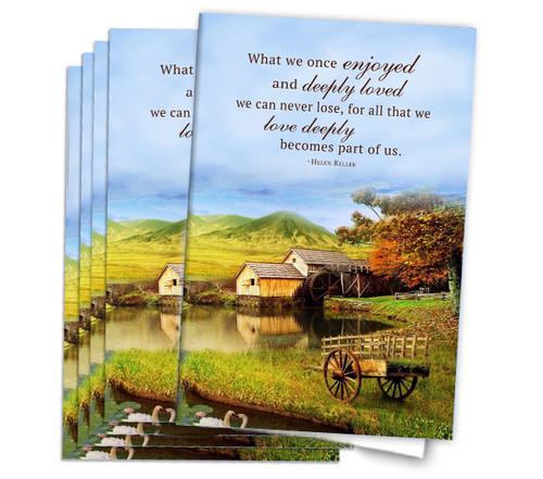 Farm Landscape Funeral Program Paper