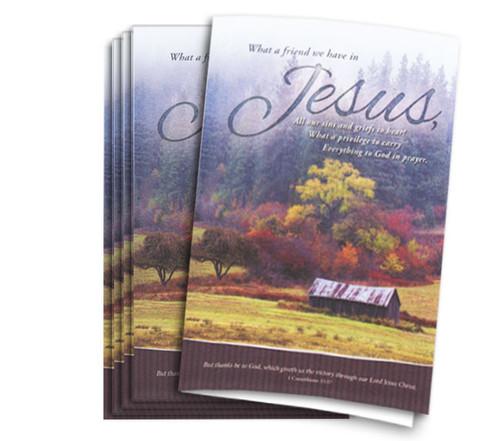 Friend In Jesus Memorial Funeral Program Paper