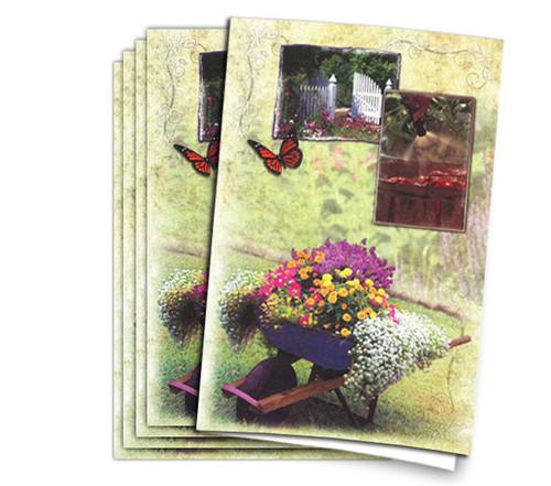 Gardeners Glory Funeral Memorial Program Paper