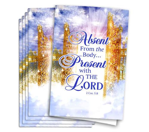 Golden Pathway Funeral Program Paper