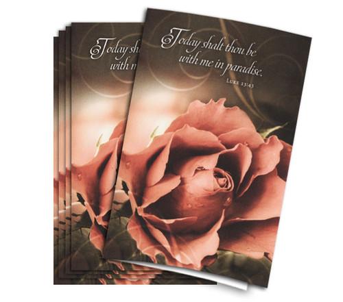 In Paradise Funeral Program Paper