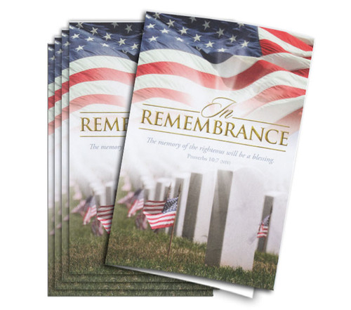 In Remembrance Funeral Program Paper