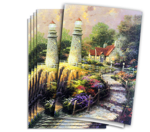 Thomas Kinkade Sea of Tranquility Funeral Program Paper