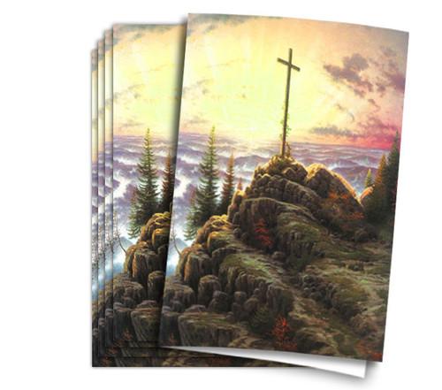 Thomas Kinkade Sunrise Funeral Program Paper