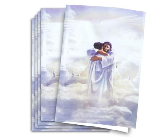 Warm Embrace Funeral Memorial Program Paper