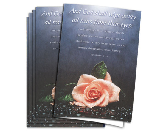 Wipe Away Tears Funeral Program Paper