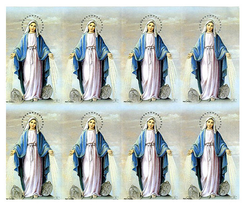 Blessed Mother Catholic Mass Prayer Card Paper (set of 8)