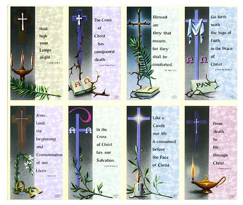 Cross Verse Assorted Cross Prayer Card Paper (Set of 8)